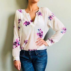Joie 100% silk watercolor floral blouse